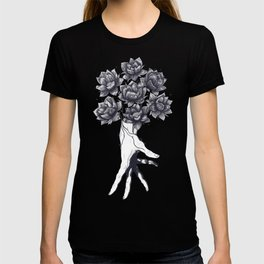 Hand with lotuses T-shirt