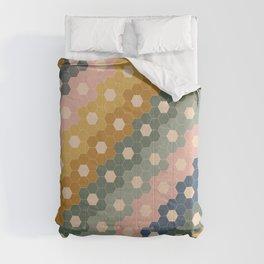 Hexagon Flowers Comforters