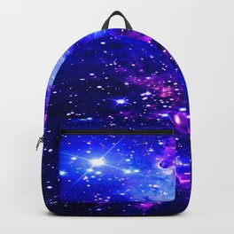 Fox Fur Nebula Galaxy blue purple Backpack