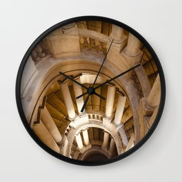 Borromini staircase, Barberini Palace, classical architecture, Roma, Museum in Rome, Bernini Wall Clock