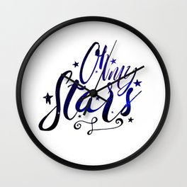 Oh My Stars | Inverse Wall Clock