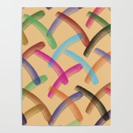 Colourful patterns Poster