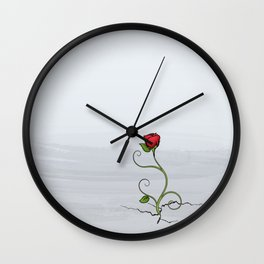The Rose that Grew from Concrete Wall Clock