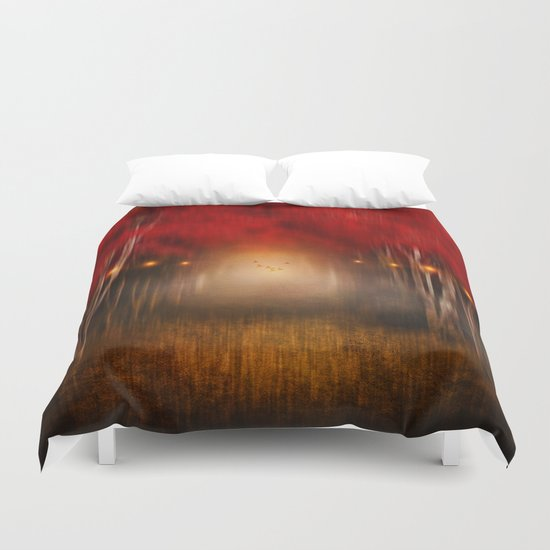 Red Melody Duvet Cover