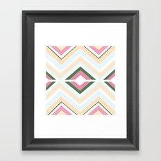 Mod stripes in Sorbet Framed Art Print