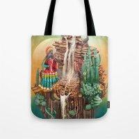 peru Tote Bags featuring peru by Tanya_tk