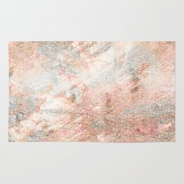Silver Rose Gold Fusion Rug
