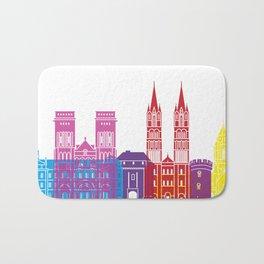 Caen skyline pop Bath Mat