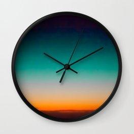 Blue and Yellow Magic Dawn in the Sky Wall Clock