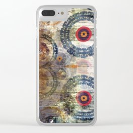 AMASONDO PATCHWORK PATTERN ART Clear iPhone Case