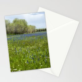 Field of Camas and Dandelions, No. 1 Stationery Cards