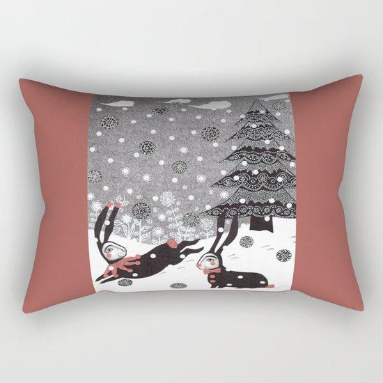 Snow Carnival Rectangular Pillow