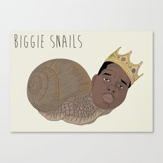 BIGGIE SNAILS Canvas Print