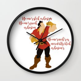 No One's Slick As Gaston Wall Clock