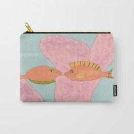 Coral Kissing Fish Carry-All Pouch