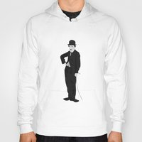 charlie chaplin Hoodies featuring Charlie Chaplin by liamgrantfoto