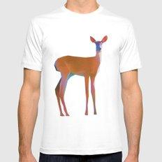 Oh Deer White MEDIUM Mens Fitted Tee