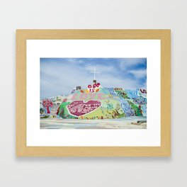 Salvation Mountain Framed Art Print