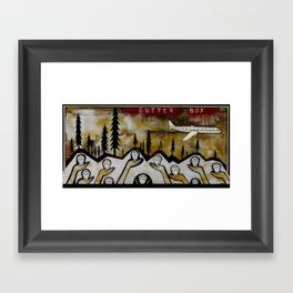 Gutter Boy Framed Art Print