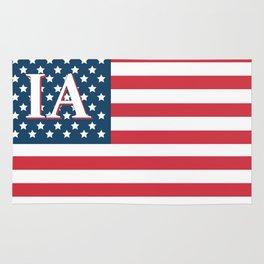 Iowa American Flag Rug