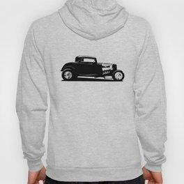 Classic American Thirties Hot Rod Car Silhouette  Hoody