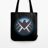 shield Tote Bags featuring Shield by livinginamovie