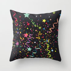 Wishes as Confetti / New Years Confetti. Throw Pillow