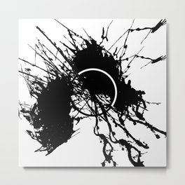 Form Out Of Chaos - Black and white conceptual abstract Metal Print