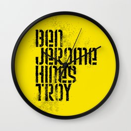 Ben Jerome Hines Troy / Gold Wall Clock