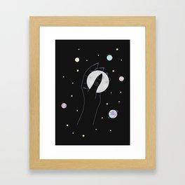Energetic - Full Moon Illustration Framed Art Print