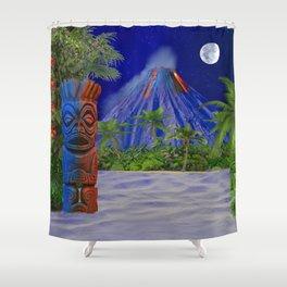 Tiki Art Background Shower Curtain