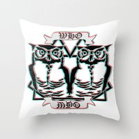 the who Throw Pillows featuring Who by VirgoSpice