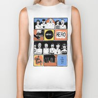 superheroes Biker Tanks featuring Superheroes SF by WASTED RITA