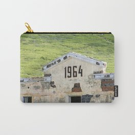 1964. Buildings of the old abandoned mercury mine Aktash. Altai Mountains, Siberia, Russia. Carry-All Pouch