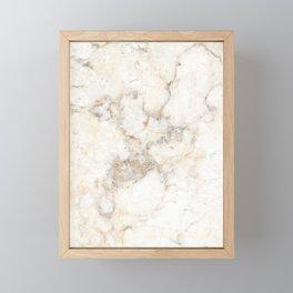 Marble Natural Stone Grey Veining Quartz Framed Mini Art Print