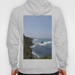 Crashing Waves On California Coastline Hoody