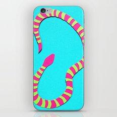 Turquois Snake Papercut iPhone & iPod Skin