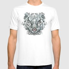 The White Tiger (Classic Version) Mens Fitted Tee White MEDIUM