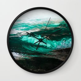 Vague dans caverne / wave in cave Wall Clock
