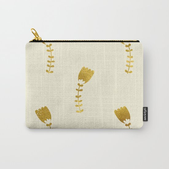 Cream Gold Foil 03 Carry-All Pouch