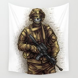 Soldier | War Weapon Defense Attack Military Gift Wall Tapestry