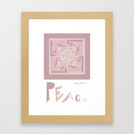 Peace is Soft Mandala Framed Art Print