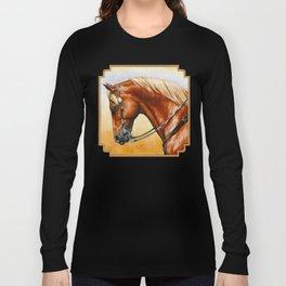 Western Sorrel Quarter Horse Long Sleeve T-shirt