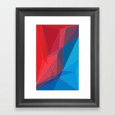 Old triangles Framed Art Print