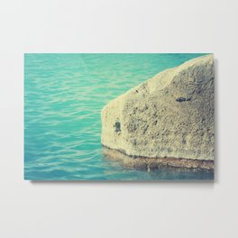 stone in the water Metal Print