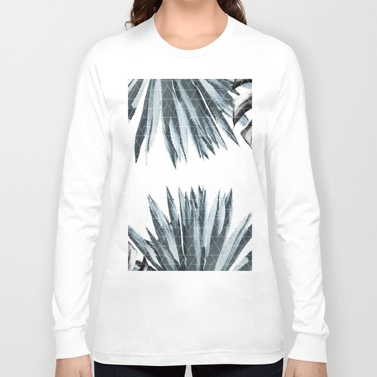 Geometric agave & monstera Long Sleeve T-shirt