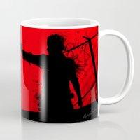 the walking dead Mugs featuring The Walking Dead Rick by Roboz