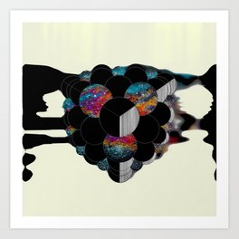 Figments of Black Flat Art Print