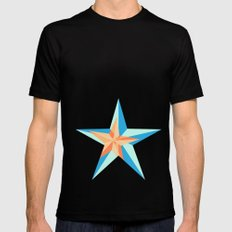 Stars 2 Mens Fitted Tee Black SMALL