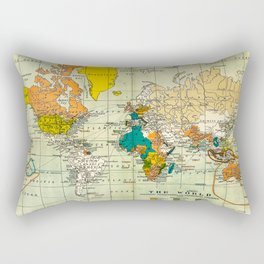 Map of the old world Rectangular Pillow